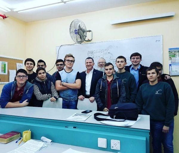 """יו""""ר הכנסת עם תלמידי 'לציון ברינה' בשבוע שעבר"""