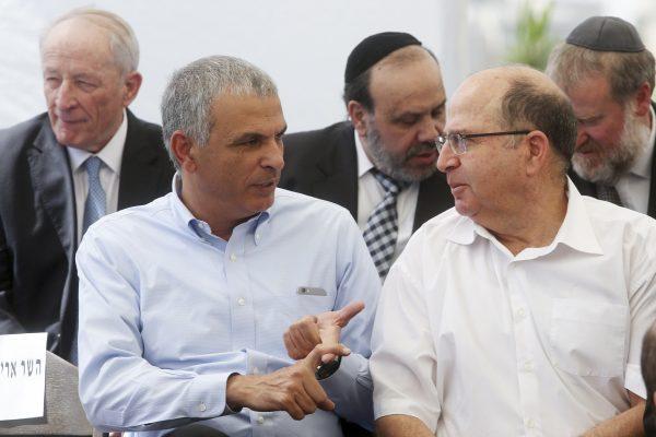 שיתוף הפעולה המתבקש ביניהם נתקל במכשולים פרסונליים. בוגי יעלון ומשה כחלון צילום: ישראל סלם, פלאש 90