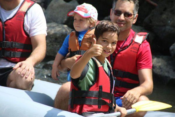 """""""אשתי אמרה שזה חלום שהתגשם"""". רפטינג בנהר הירדן צילום: יח""""צ"""