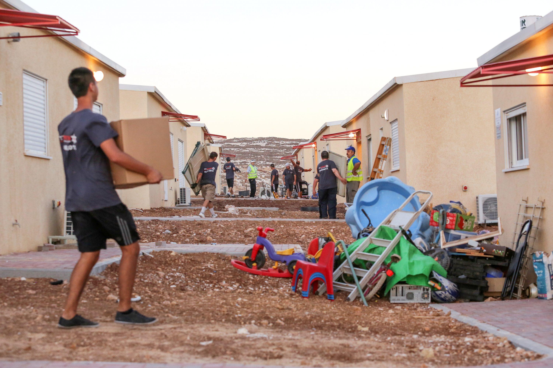 מוגדר כרגע כאתר לא חוקי. היישוב הזמני של תושבי מגרון צילום: אורן נחשון, פלאש 90