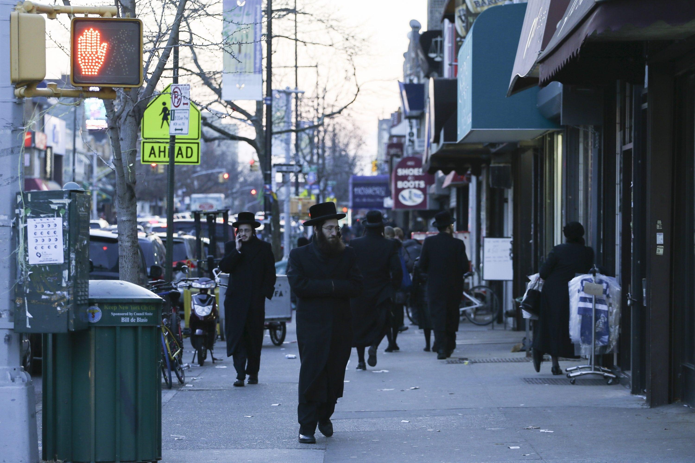 אוטונומיה חרדית לצד מרחב ציבורי כל-אמריקני. ברוקלין צילום: נתי שוחט, פלאש 90