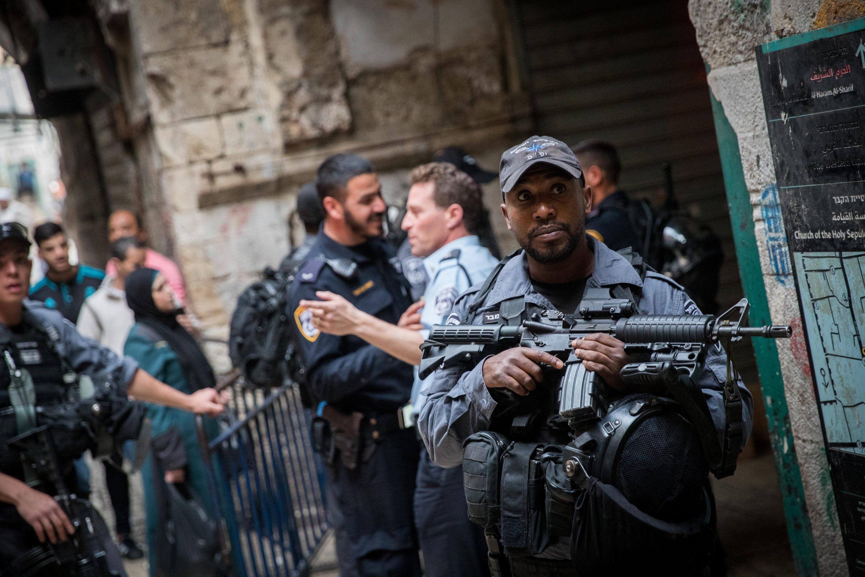 יש ניסיונות לבצע פיגועים כל הזמן. זירת הפיגוע בעיר העתיקה צילום: יונתן זינדל, פלאש 90